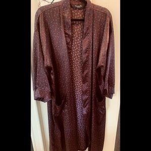 Christian Dior Monsieur Silky Burgundy Summer Robe